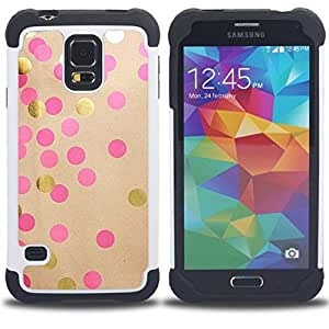 - diy paper gold pink brown/ H??brido 3in1 Deluxe Impreso duro Soft Alto Impacto caja de la armadura Defender - SHIMIN CAO - For Samsung Galaxy S5 I9600 G9009 G9008V