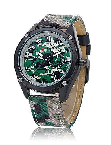 Xin & za Hombres ¡® S cinturón deportes al aire libre camuflaje militar relojes camuflaje