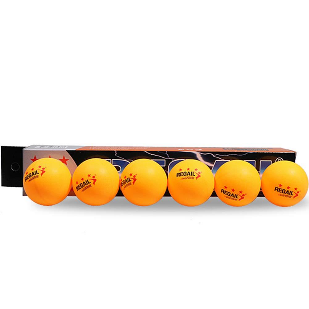 Ruiting 6pcs 3-Star Plus 40mm Balles de Tennis de Table Orange, Formation avancé e Ping Pong Balles Jaunes pour Activité s Sportive Formation avancée Ping Pong Balles Jaunes pour Activités Sportive
