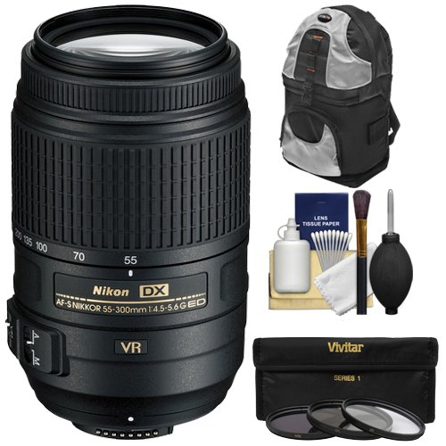 Nikon 55 300mm 4 5 5 6G Zoom Nikkor Backpack