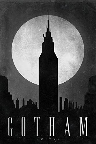 Batman poster Geek art Batman art print Gotham City print Gotham City art print Batman Decor