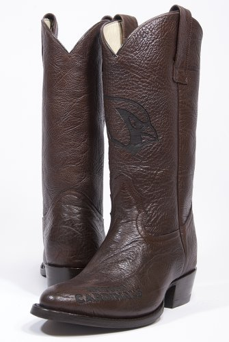 NFL Arizona Cardinals Men's Traditional Toe Western Boot, Brown, 9 by Old Pro Leathers