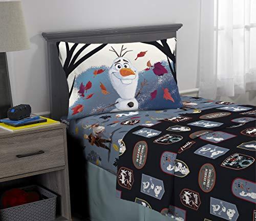 Franco Kids Bedding Super Soft Microfiber Sheet Set, 3 Piece Twin Size, Disney Frozen 2 Olaf (Disney Frozen Olaf Pillowcase)