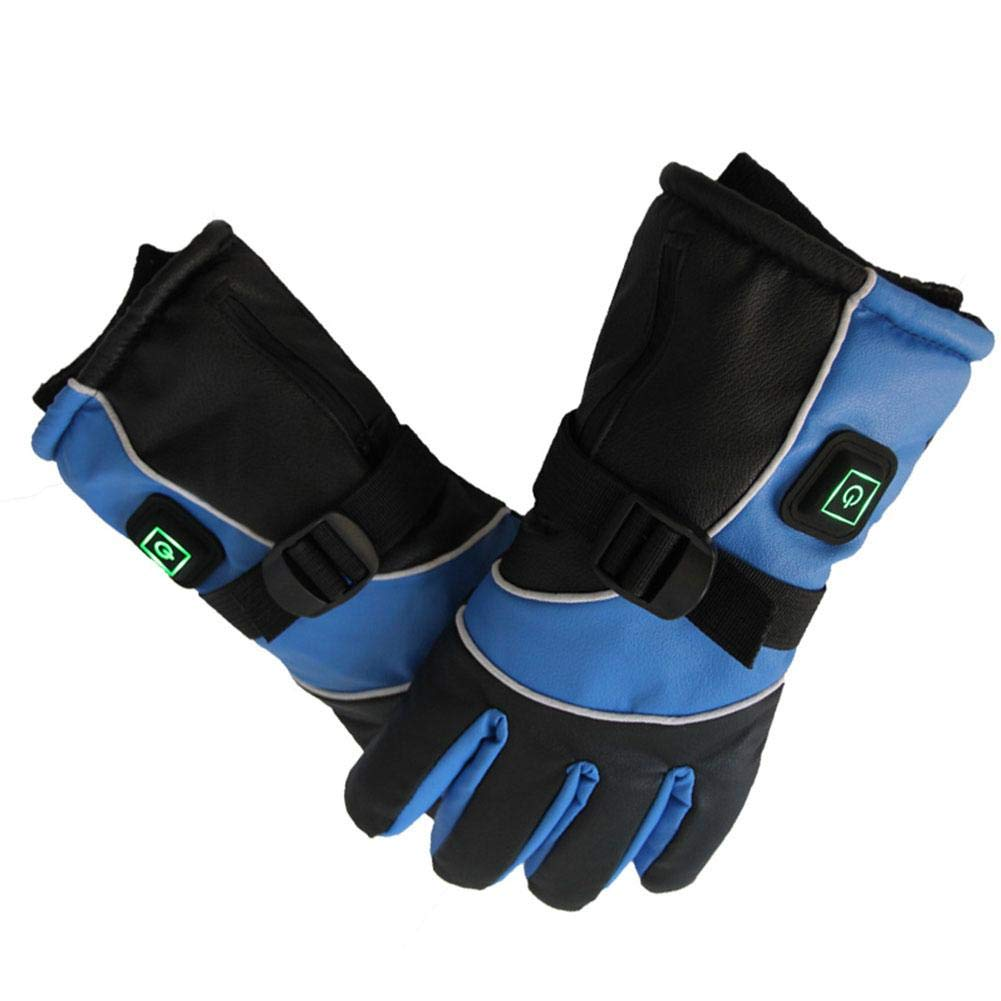 Beesuya iBaste Beheizbare Handschuhe Herren Damen Elektrische Motorrad Thermohandschuhe Heizhandschuhe USB Auflade mit 3000 mAh Akku Ski Handschuhe excellently
