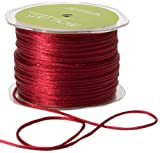 May Arts Ribbon, Burgundy Satin String