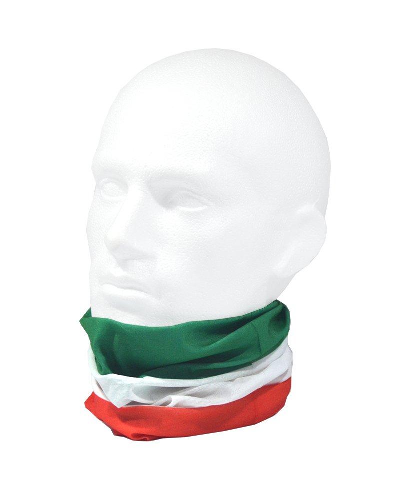 One Size Ruffnek FLAG OF ITALY//Bandiera dItalia//il Tricolore Multifunctional Headwear Neck warmer
