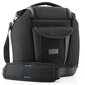 DLSR Compact Camera Case / Compact Camera Bag with Accessory Storage by USA Gear - Works with Nikon , Canon , Sony , Olympus and more DSLR , Mirrorless , Micro 4/3 & Point and Shoot Cameras