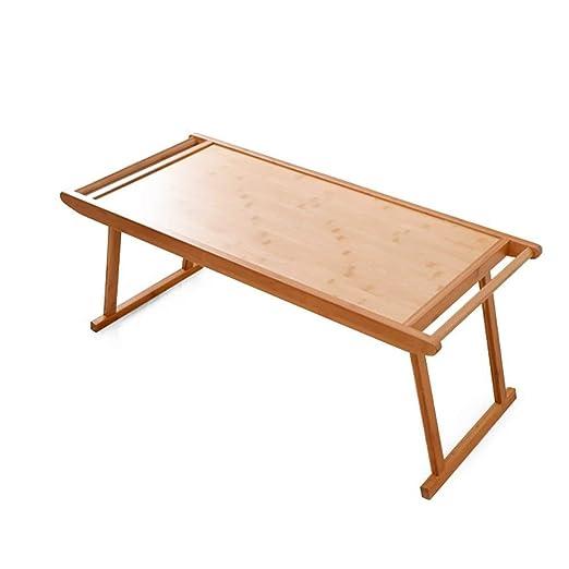 MUBAY Mesa Plegable portátil de bambú Picnic al Aire Libre Mesa ...