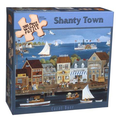 UPC 021081110228, Carol Dyer Shanty Town Wood Puzzle