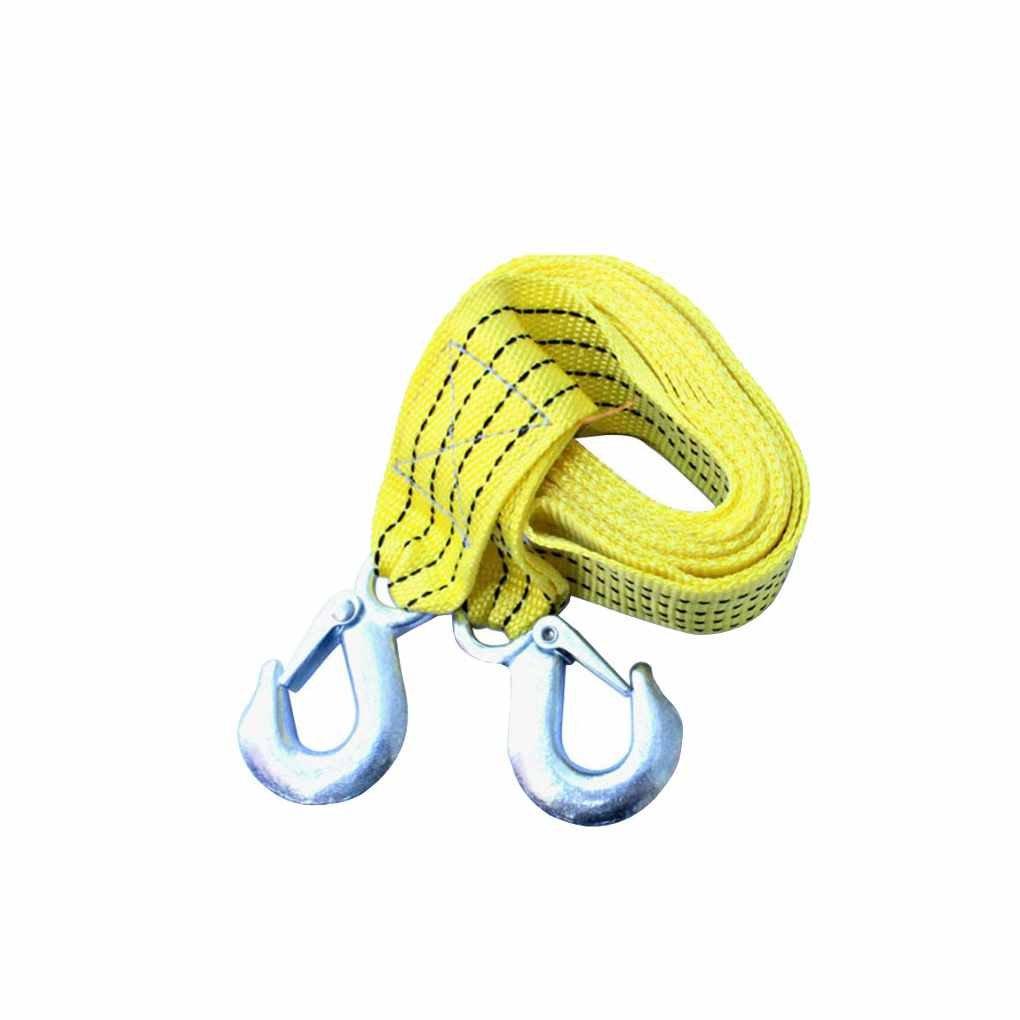 Elenxs Cami/ón del Coche del veh/ículo Que Tira de Servicio Pesado Auto-Rescate con Cuerda de Remolque Cuerda de la Correa de la Correa Fuerte Gancho de Arrastre de Remolque Cable 3M 3tons