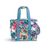 Vera Bradley Insulated Travel Soft Sided Collapsible Cooler Bag with Handles | Adjustable Shoulder Strap | Beach Tote Bag | Travel Friendly | Leak Resistant Cooler | Superbloom