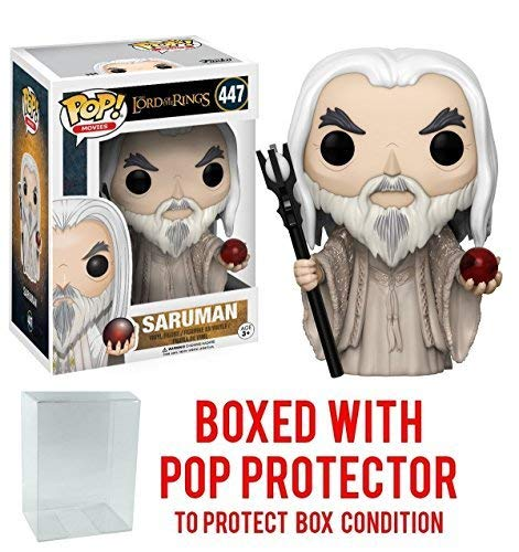 Funko Pop! Movies: The Lord of the Rings - Saruman #447 Vinyl Figure (Bundled with Pop BOX PROTECTOR CASE) (Of Lurtz The Rings Lord)