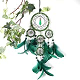 Green Dream Catcher Ornament for Kids Wall Decor – 4.3″X20″ Long