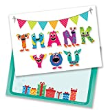 Monster Thank You Cards - Includes Envelopes (Pack of 10) by Ruby Ashley