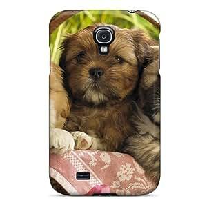 Premium Durable Cute Puppies 2 Fashion Tpu Galaxy S4 Protective Case Cover