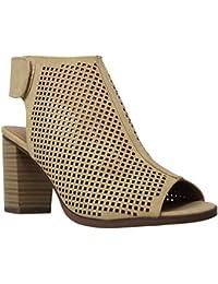 Women's Velcro Open Toe-Ankle Low Heeled-Sandals