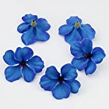 100pcs/lot Spring Silk Orchid Artificial Flower Heads Gladiolus Cymbidium Flowers For Wedding Decoration (royal blue)