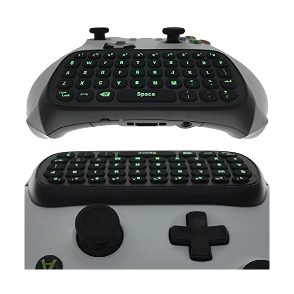 Whiteoak Xbox One S Chatpad Mini Backlit Gaming Keyboard Wireless Chat Message KeyPad with Audio/Headset Jack for Xbox… 2