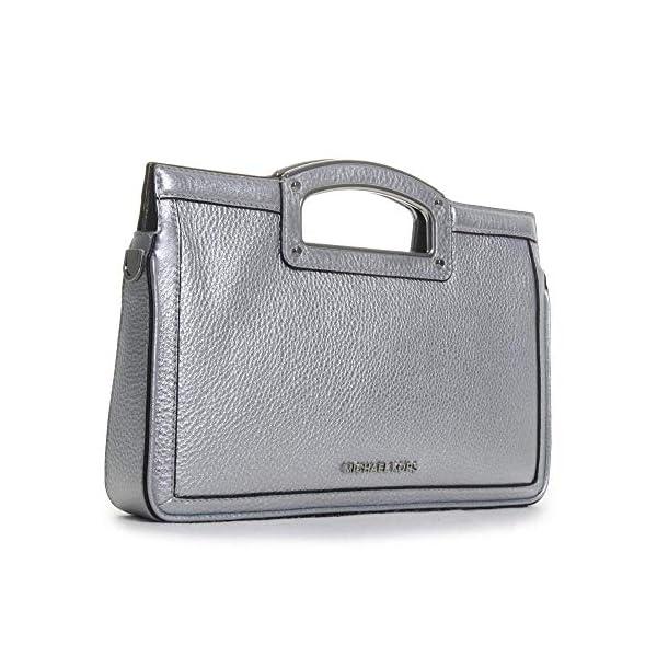 MICHAEL Michael Kors Berkley Legacy Large Clutch Silver One Size 7