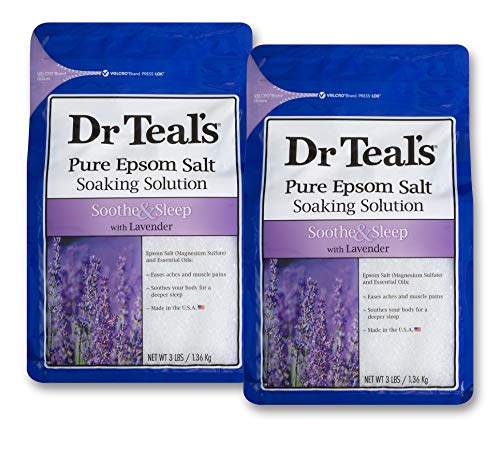 Teal And Lavender (Dr Teals Lavender Epsom Salt - Soothe and Sleep - 2 bags (6lbs)