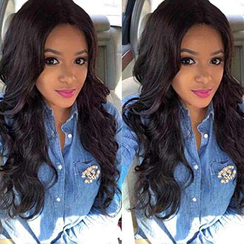 - Beauhair Brazilian Virgin 13x4 Lace Front Wigs Body Wave Human Hair Wigs for Black Women 130% Density Natural Black Color 22 inch