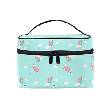 4de241650b9a Cosmetic Bag Cute Alpaca With Balloons Light ... - Amazon.com