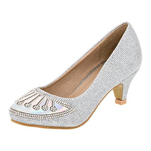 Zapatos de fiesta para Chica en 4colores #135si4 Silber