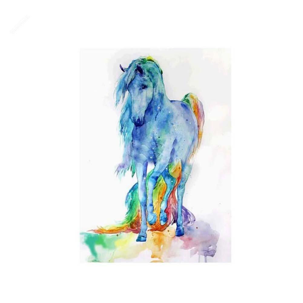 San Bodhi® Cute Horse 5D Diamond Gemälde Stickerei DIY Kreuzstich Wand Home Decor 7308
