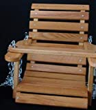 Amish Handcrafted Sassafras Wood Child Country Porch Swing. This Great Addition to Your Backyard Will Bring Hours of Fun to Any Child. Made By the Old Order Amish with Sassafras Wood and Finished with Weather Proofing Polyurethane to Withstand All Types of Weather. Chain Included. Measures 18 Inch L X 21 Inch W X 18 Inch H Sassafras Lumber Slightly Resembles Oak For Sale