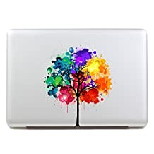 """Vati Leaves Removable Colorful Tree Best Vinyl Decal Sticker Skin Art Perfect For Apple Macbook Pro Air Mac 11"""" inch / Unibody 11 Inch Laptop"""