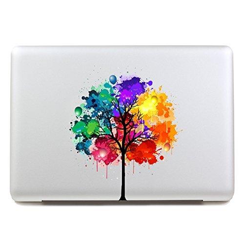 Vati Blätter Removable Bunte Baum Beste Vinyl Aufkleber Aufkleber Skin Art perfekt für Apple Macbook Pro Air Mac 13