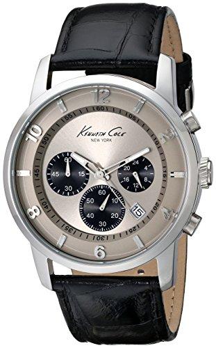 Eye Dial Watch (Kenneth Cole New York Men's KC1993 Dress Sport Grey Chronograph Dial 3-Sub Eyes Watch)