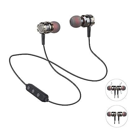 Imán Auriculares Bluetooth con función de inserción de tarjeta de memoria, auriculares inalámbricos Deportes Auriculares