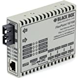 Black Box FlexPoint LMC100A-SC-R3 Tanscevier Media Converter - 1 x Network (RJ-45) - 1 x SC Ports - DuplexSC Port - Multi-mode, Single-mode - Fast Ethernet - 10/100Base-TX, 1000Base-FX - Rack-mountabl