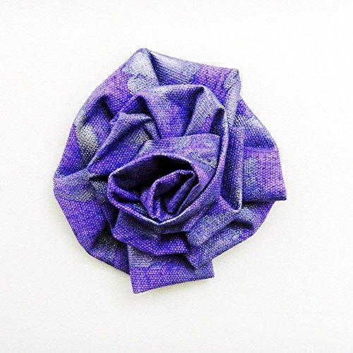 African Violet Original Art Bloom Brooch - Pin / ME2Designs Hand Painted Wearable Art - African Violet Blooms
