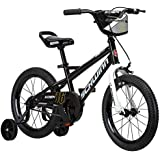 Schwinn Koen Boy's Bike, Featuring SmartStart Frame to Fit Your Child's Proportions, Some Sizes Include Training Wheels and Saddle Handle, 12-14-16-18-20-Inch Wheel Sizes, Black, Blue, and Red