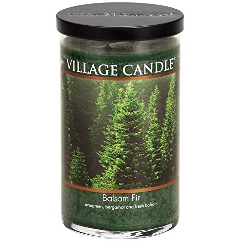 Cabin Scents - Village Candle Balsam Fir 24 oz Glass Tumbler Scented Candle, Large