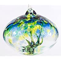 Orb Tree of Life Small Glass Globe - Sea Green by Milford Collection