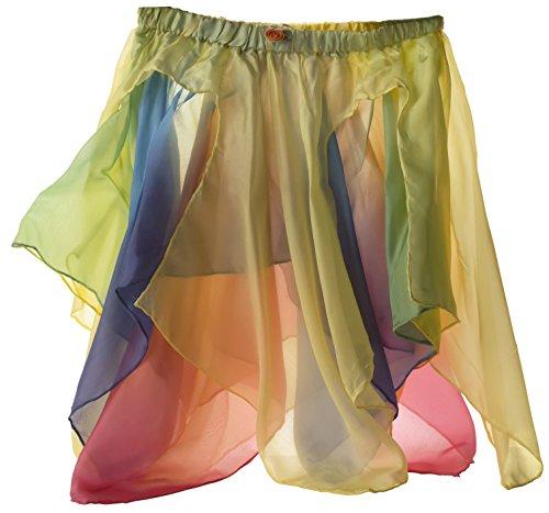 Sarah's Silks - Reversible Silk Fairy Skirt (Yellow/Rainbow)