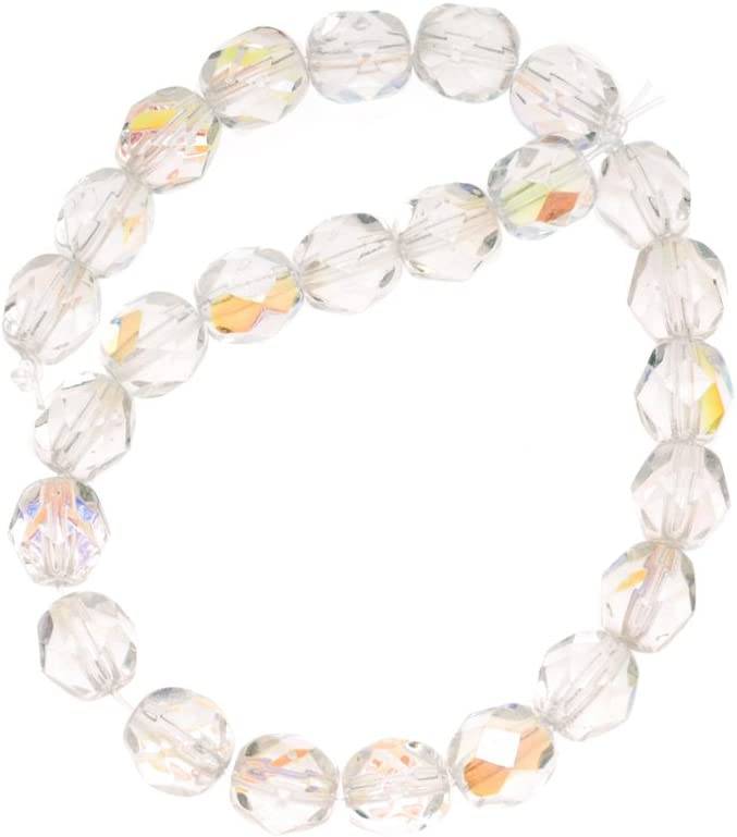 6mm Czech Beads 6mm Faceted Fire Polished Beads 25 or 50 beads strands