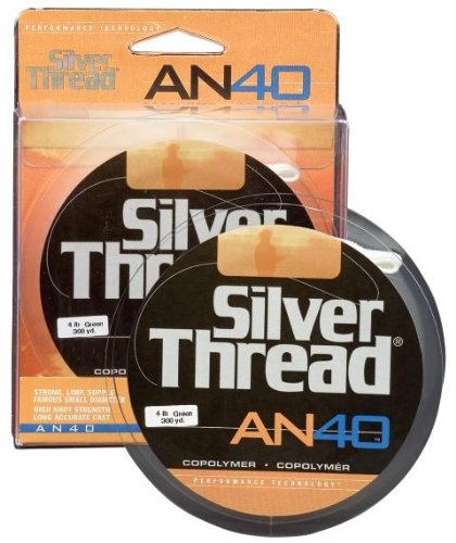 Silver Thread AN40 Bulk Spook Fishing Line-3000 Yards (Silver, 10-Pound Test)