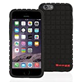 Snugg iPhone 6 Plus and 6S Plus Silicone Case in Black- Non-Slip Material, Protective and Soft to Touch for the Apple iPhone 6 Plus and 6S Plus
