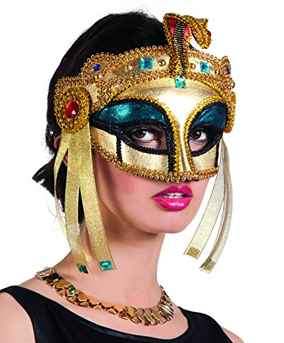Cleopatra Egyptian Gold Eye Mask with Snake Detail -