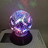 H+K+L USB Charging LED Colorful 3D Magical Light Home Party Decoration Lights for Home, Window, Bathroom, Wedding, Festival (C)