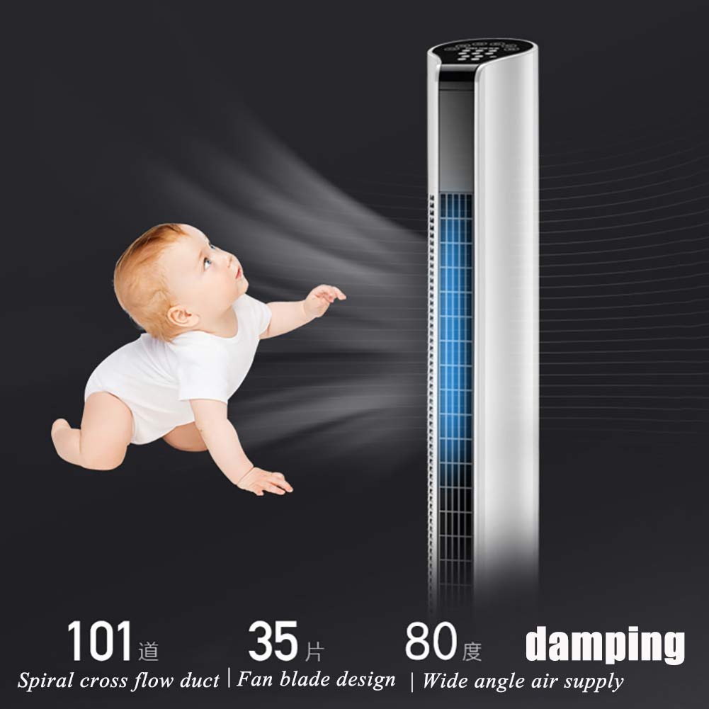 SS/&DAMAI Floor Tower Fan 3-Speed Oscillating Evaporative Coolers Bladeless Fan Air Cooler for Office Home Kitchen Offices-a Portable Air Conditioner Fan