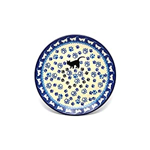 Polish Pottery Plate – Salad/Dessert (7 3/4) – Boo Boo Kitty by Polish Pottery Gallery