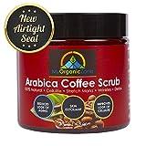 My-Organic-Zone Arabica-Coffee-Scrub, 100% Natural-Body-Scrub for Cellulite-Treatment, Exfoliating-Cream (250g/8.8oz) - Licensed by Health Canada