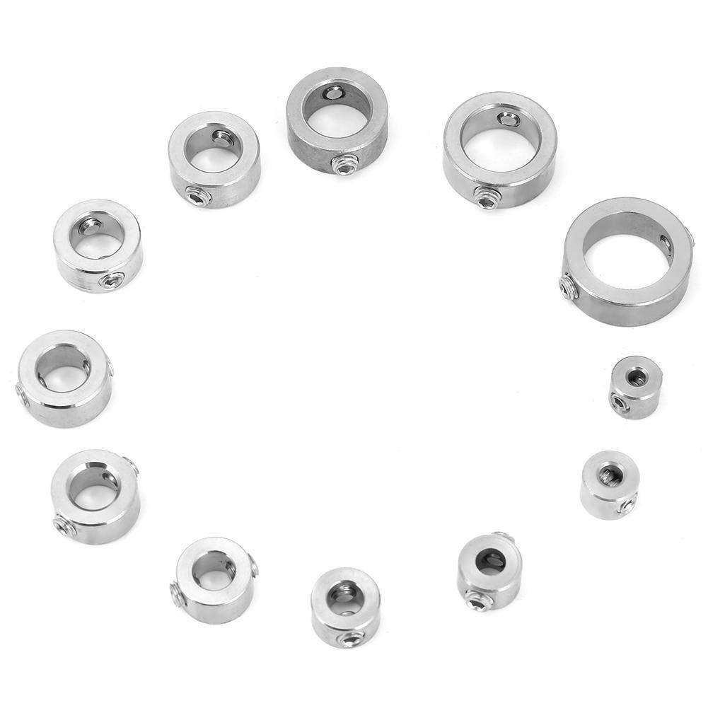 localizador consistente de perforaci/ón con Juego de collar/ín de tope para taladro de 12 piezas anillo de l/ímite de mandril de eje de pasador de profundidad de taladro de acero inoxidable de 3-16 mm