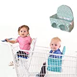Baby Shopping Cart Seat- Buggy Bench-Grocery shopping with toddlers or multiples up to 40 lbs. (Seafoam Green) Available in 3 Other Colors! Up to 40 lbs.