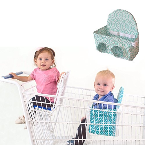 Baby Shopping Cart Seat- Buggy Bench-Grocery shopping with toddlers or multiples up to 40 lbs. (Seafoam Green) Available in 3 Other Colors! Up to 40 lbs. by Buggy Bench
